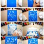 Фото 73: Сделать открытку солью и пва на 23 февраля своими руками