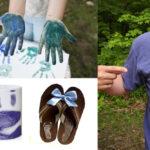 Фото 91: Подарки с отпечатками ладоней и следами ног на ткани, футболке, кружке, тапочках