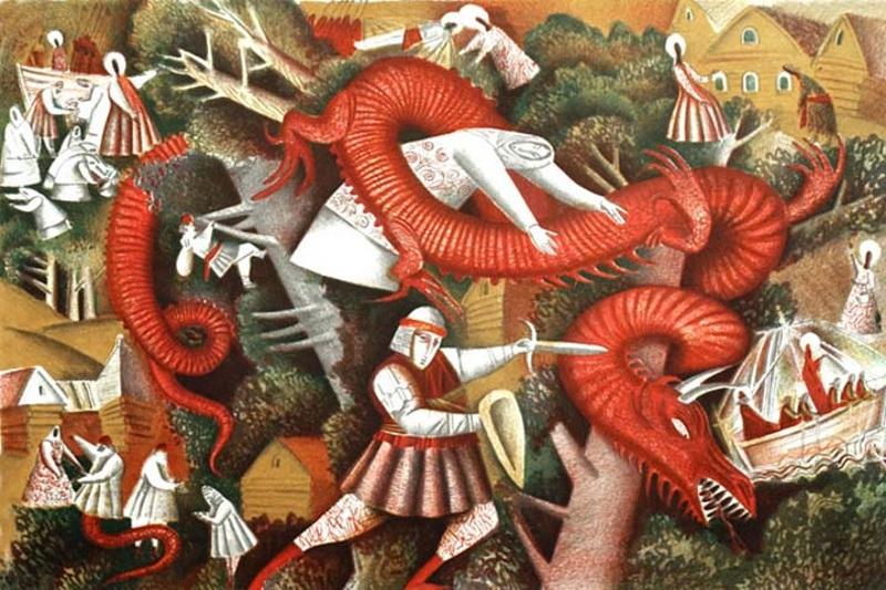 Сражение князя Давида со змеем