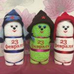 Фото 44: Подарки полотенца на 23 февраля