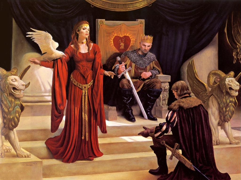 Признание рыцаря даме сердца
