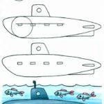 Фото 80: Рисуем подводную лодку самостоятельно
