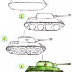 Фото 82: Рисуем танк поэтапно своими руками