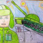 Фото 56: Рисунок карандашами танкист и танк