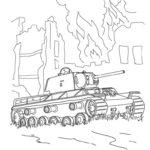 Фото 86: Нарисовать танк на войне