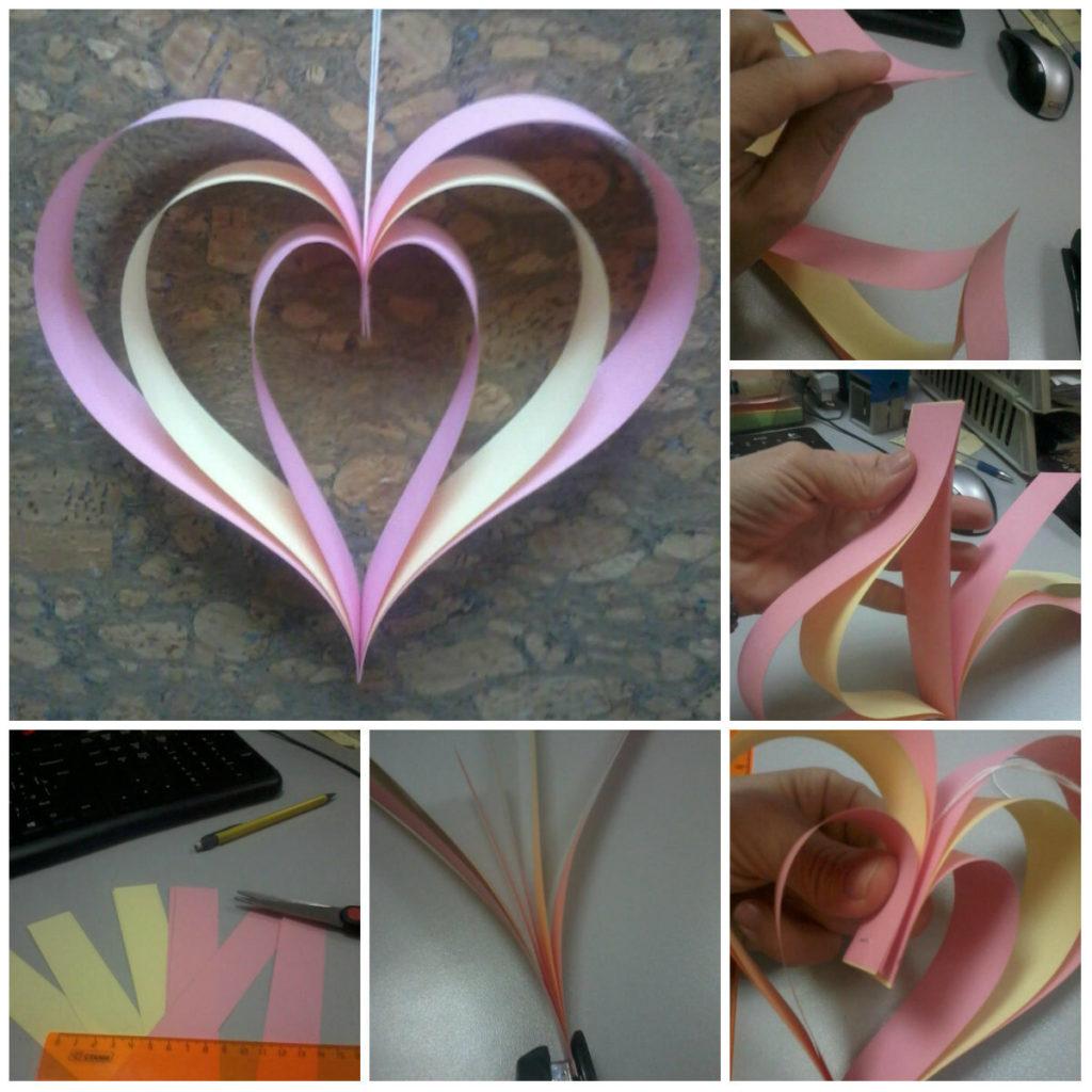 Сердце из бумажных полосок
