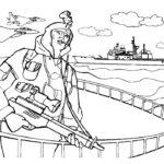 Фото 70: Раскрасить рисунок солдат на морском флоте