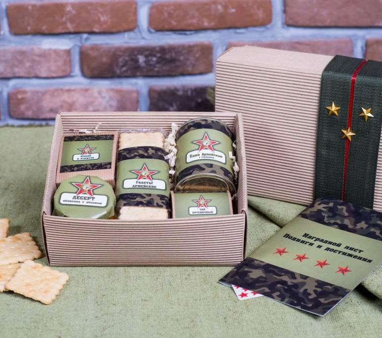 Подарочный набор сухпаек на 23 февраля для мужчин коллег