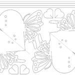 Фото 1700: Трафарет валентинки бабочки