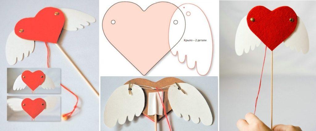 Марионетка сердце с крыльями