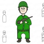 Фото 53: Нарисовать солдата с оружием в анфас