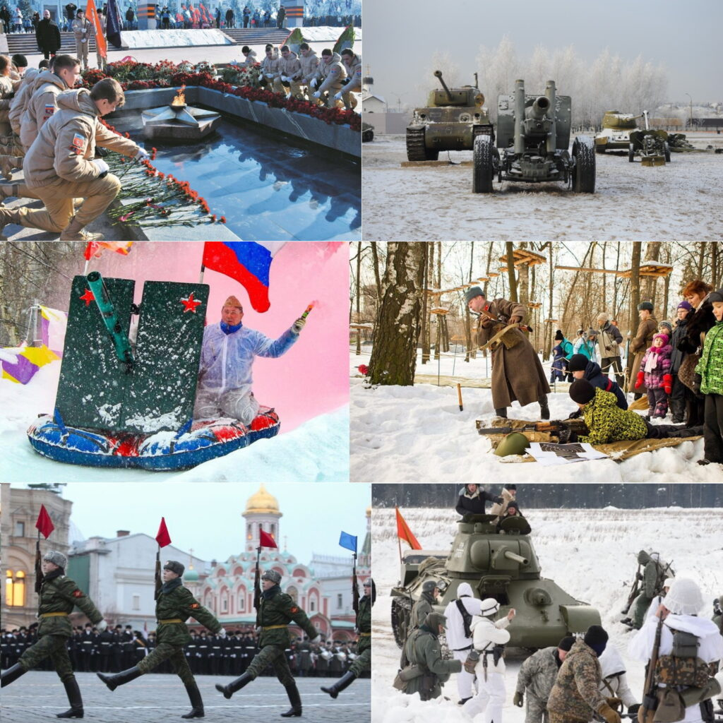 Мероприятия на 23 февраля в парке на природе