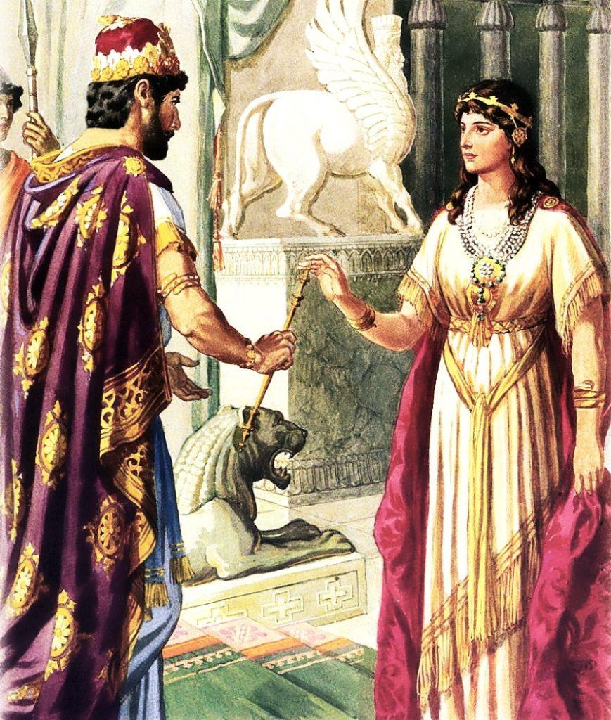 Царь Артаксеркс и его жена Есфирь — защитница еврейского народа