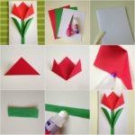 Фото 120: Сделать открытку оригами на 8 марта своими руками