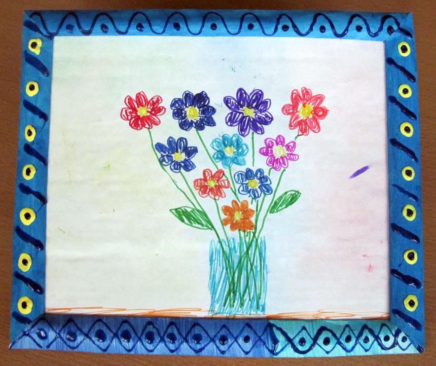 Подарок рисунок в рамке на 8 марта