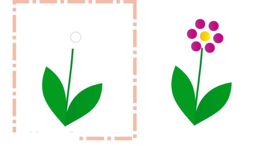 Скачать шаблон цветочка для рисования пальчиками