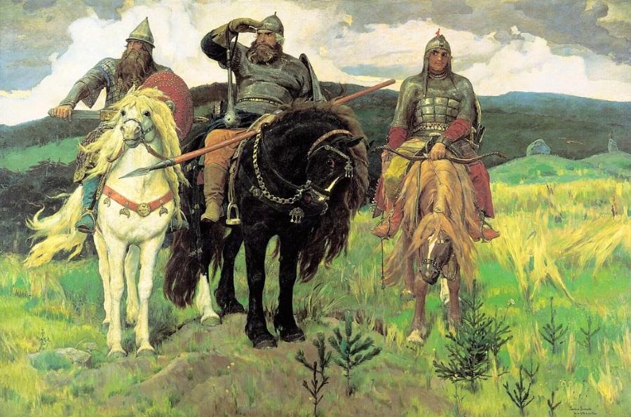 Картина богатыри Васнецова