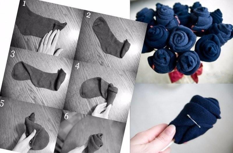 Сделать букет из носков своими руками в подарок мужчине