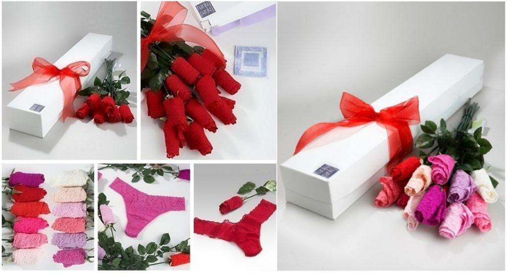 Подарок букет из кружевного белья на 8 марта своими руками