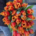 Фото 102: Пышный букет тюльпанов с бахромой на 8 марта