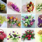 Фото 104: Идеи сладких букетов своими руками