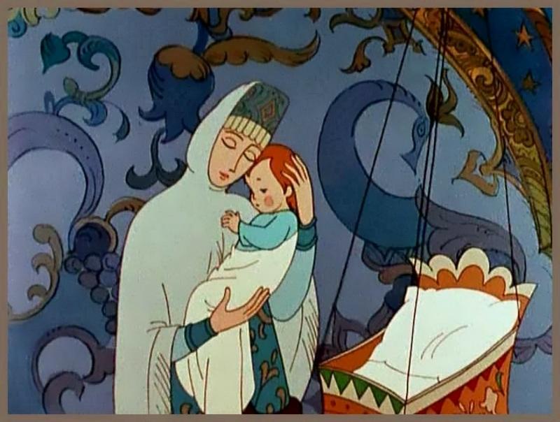 Рисунок царевна родила богатыря