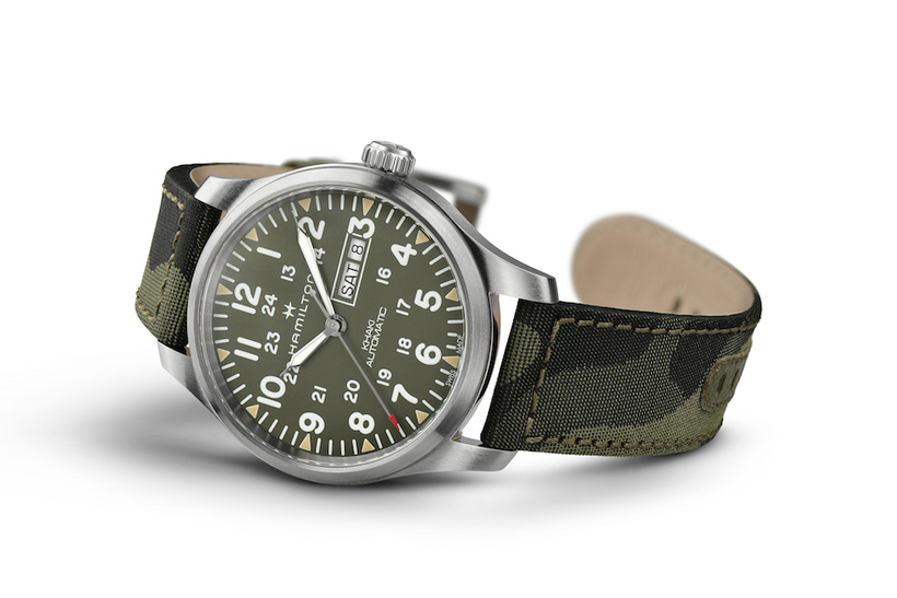 Часы с ремнем хаки на 23 февраля