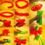 Фото 52: Как сделать цветы из воздушных шариков шариков своими руками
