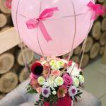 Фото 132: Букет с воздушным шаром на 8 марта
