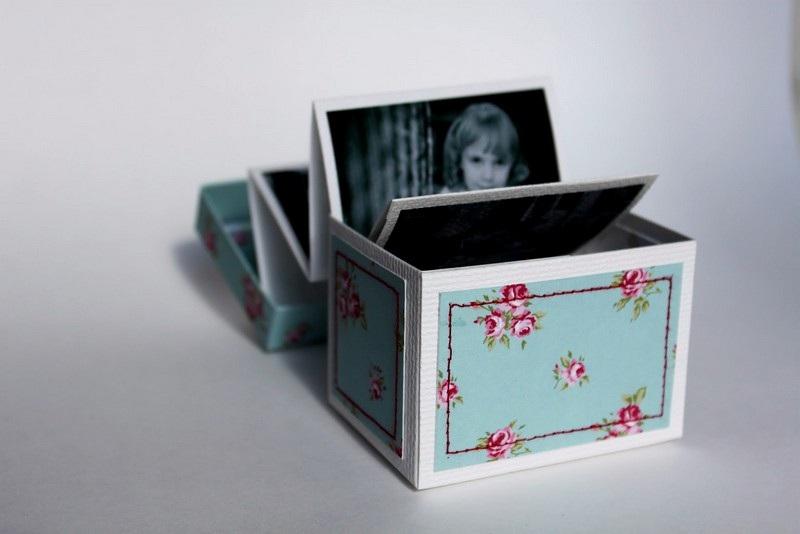 Фото в коробочке в подарок маме своими руками