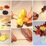 Фото 123: Как сделать фруктово-ягодный букет своими руками