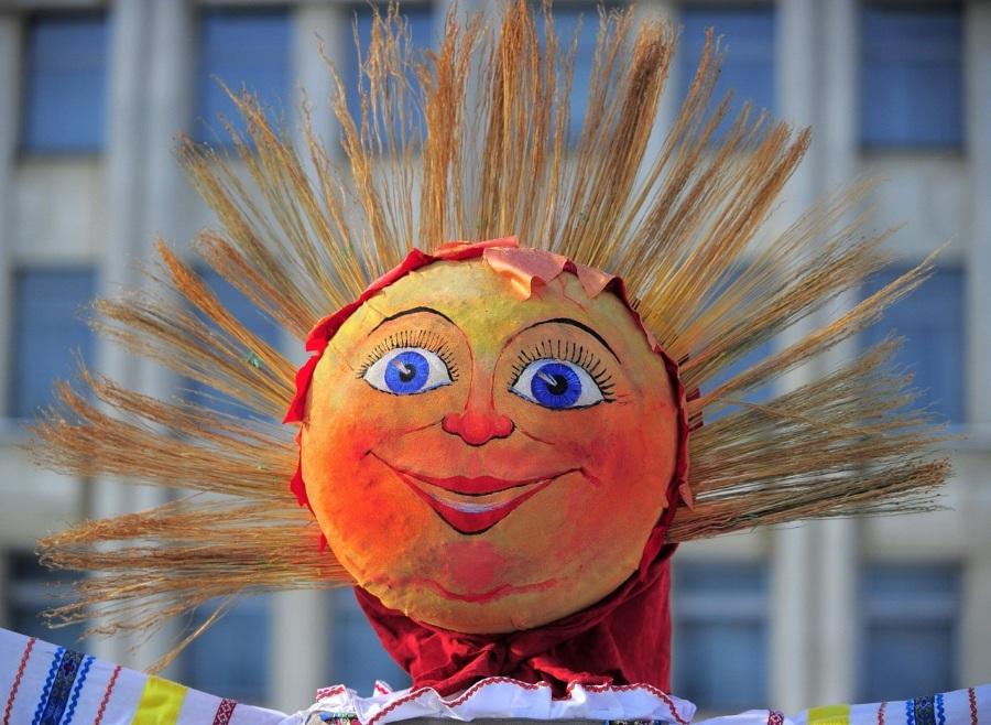 Голова солнце для чучела масленицы