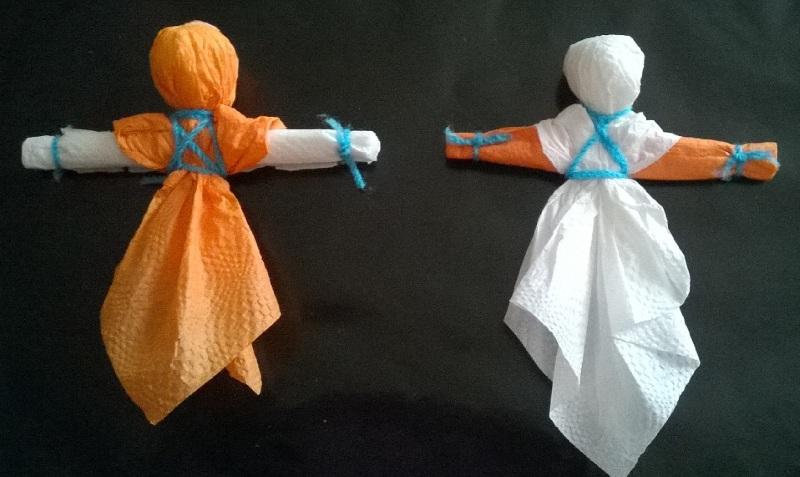 Куклы масленицы из бумажных салфеток своими руками