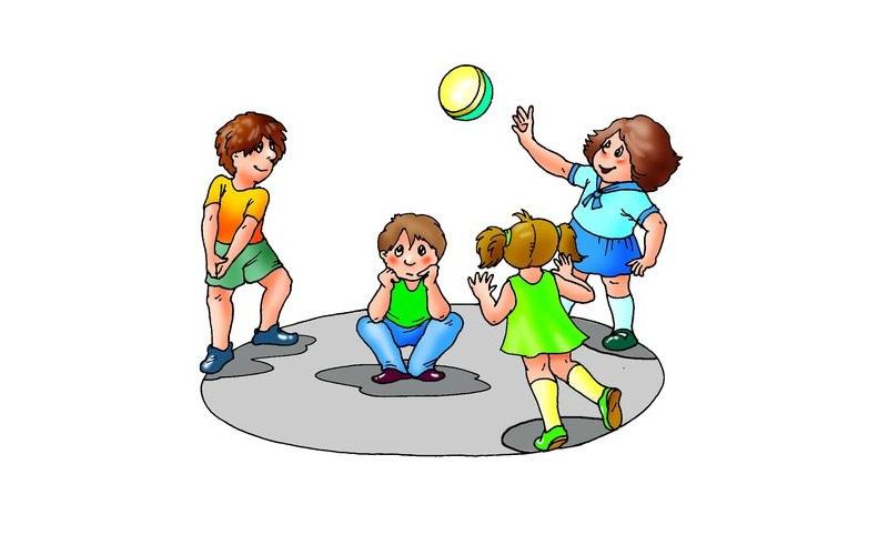 Конкурс с мячиком для детей в школе