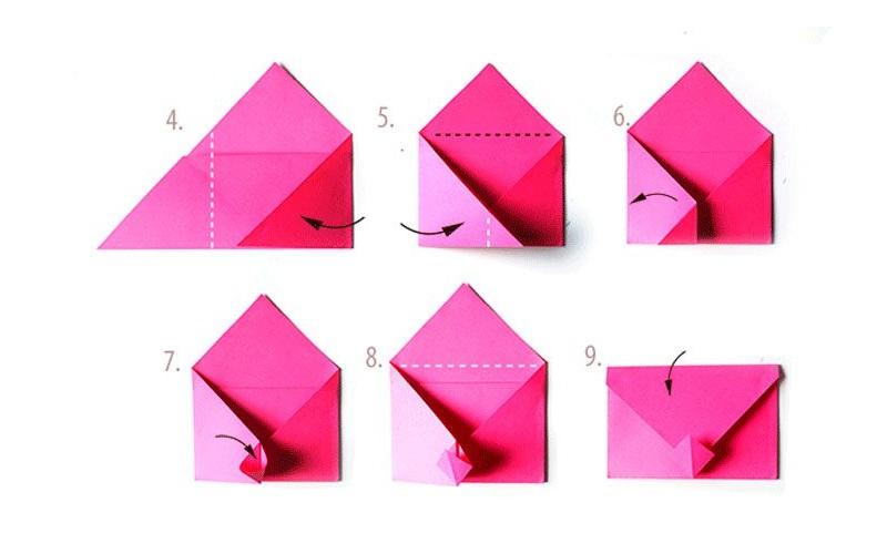 Сложить конверт своими руками
