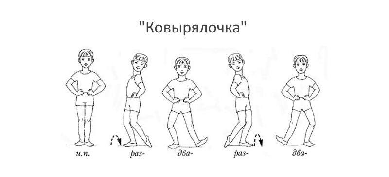 Танцевальное движение Ковырялочка
