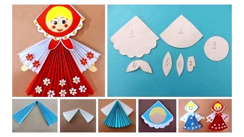 Сделать куклу на масленицу из бумаги гармошкой своими руками