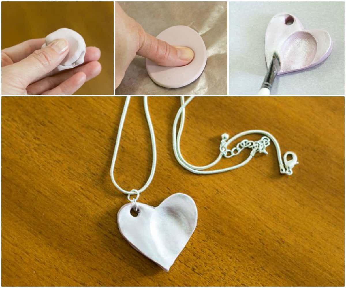 Как сделать кулон с детскими отпечатками своими руками