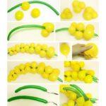 Фото 40: Как сделать мимозу из воздушных шариков своими руками