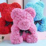 Фото 139: Мишки из цветов на 8 марта в подарок