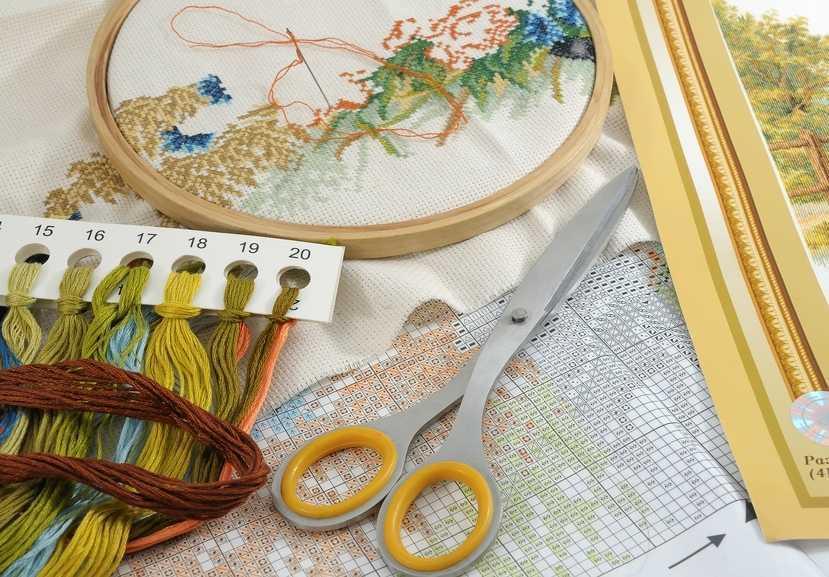 Творческий набор для вышивания в подарок на 8 марта
