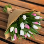 Фото 103: Букет тюльпанов в нежных цветах на 8 марта
