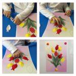 Фото 81: Сделать объемную открытку с тюльпанами на 8 марта своими руками