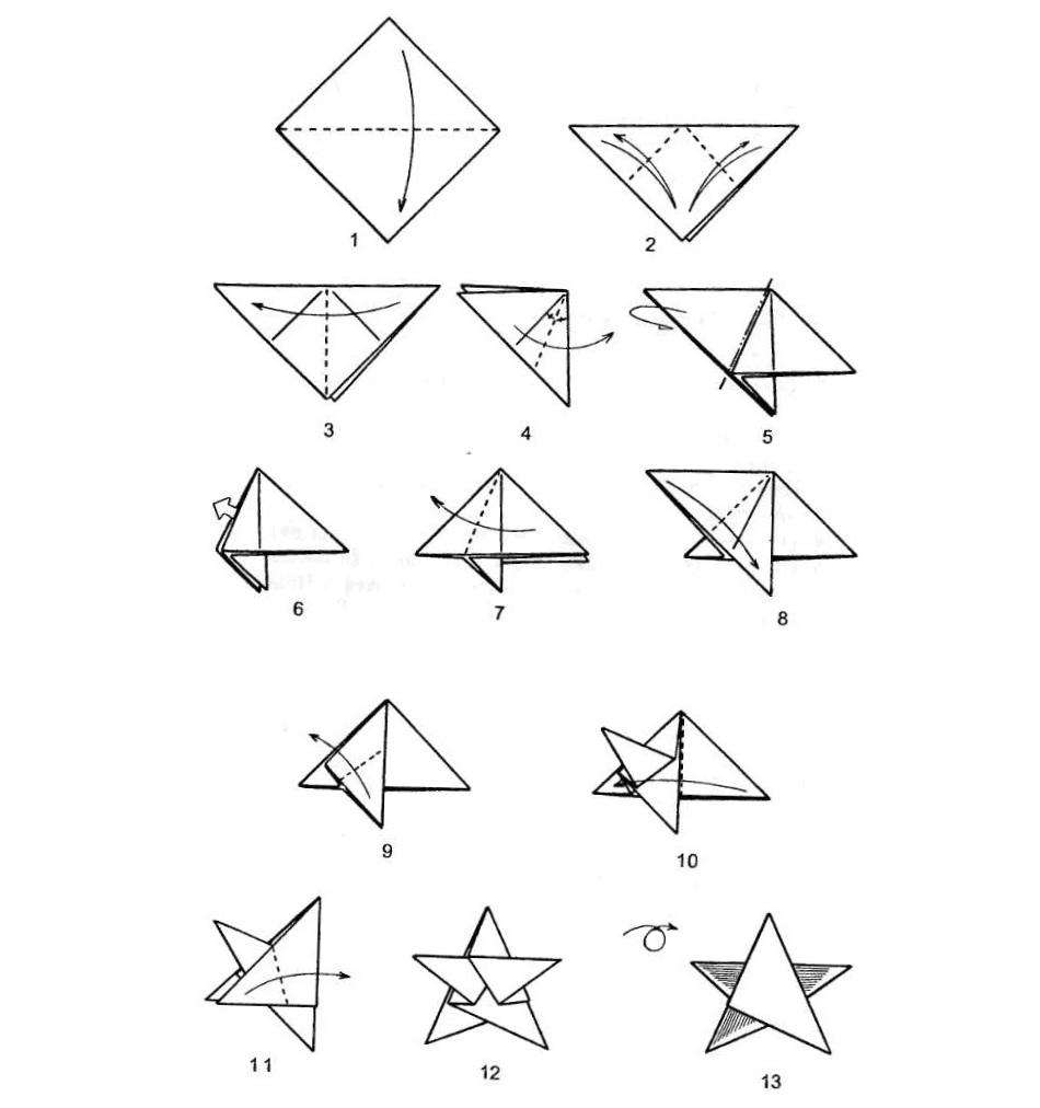 Сделать звезду оригами своими руками