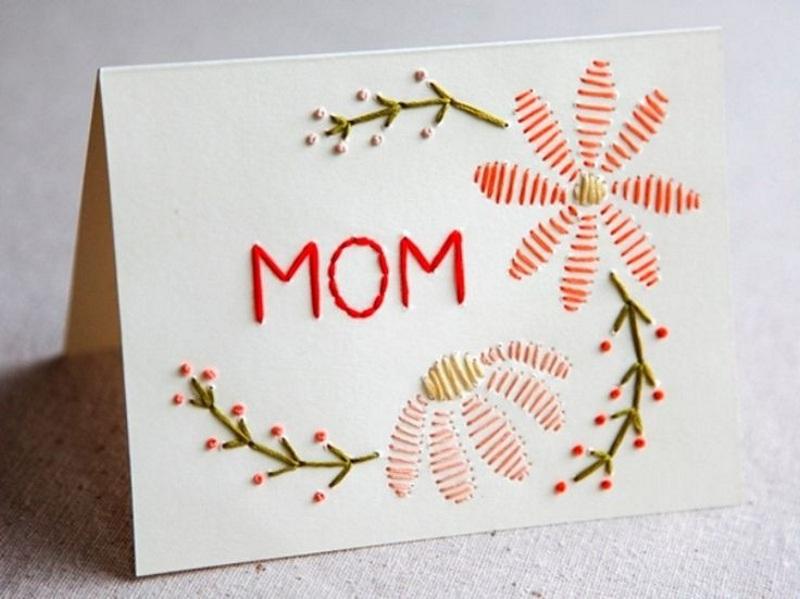 Сделать открытку с вышивкой на 8 марта своими руками