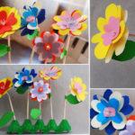 Фото 133: Цветы из бумаги на трубочках своими руками