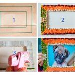 Фото 121: Как сделать рамку из крупы своими руками