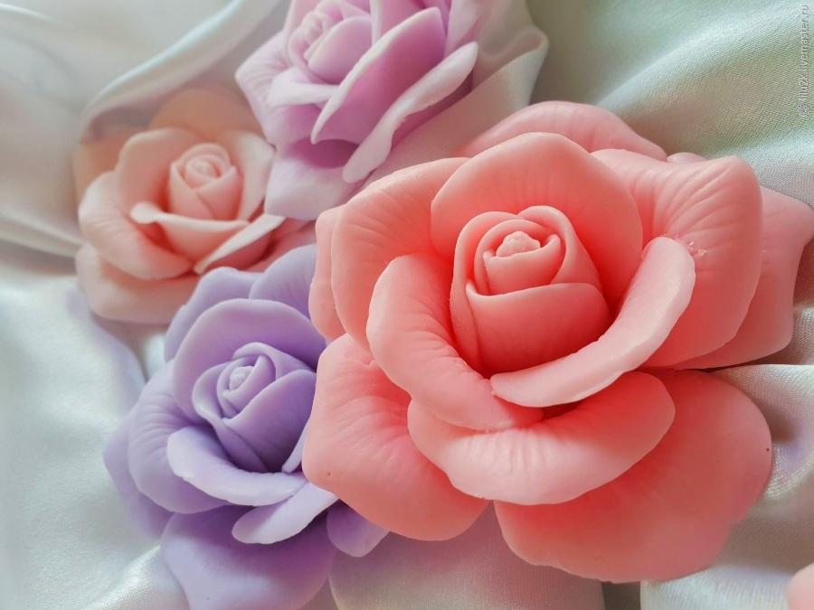 Мыльные розы для поделки на 8 марта