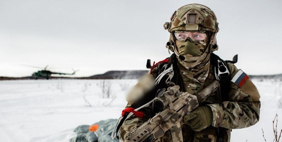 Русский солдат зимой