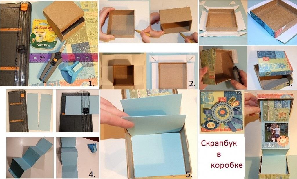 Сделать своими руками фотоальбом в коробке своими руками